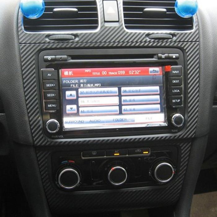 Автостайлинг Teeze, Автомобильный интерьер, центральный пульт, изменение цвета, углеродное волокно, литье, наклейки для VW Golf 6