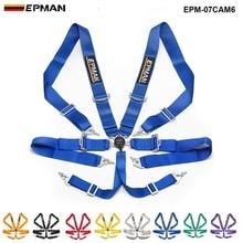 "Epman Universal 6 Point 3"" Camblock Quick Release Racing Seat Belt Harness EPM-07CAM6"