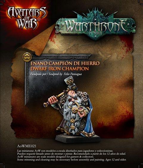 Avatars of War dwarf champion warrior