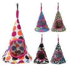 Yeni 5 Renkler Pet Koni Sepet Kuş Yuvası Hamak Peluş Kuş Oyuncaklar Papağan Hamak Sıcak Hamak Pet Mağarası Kafes oyuncak çadır Ev
