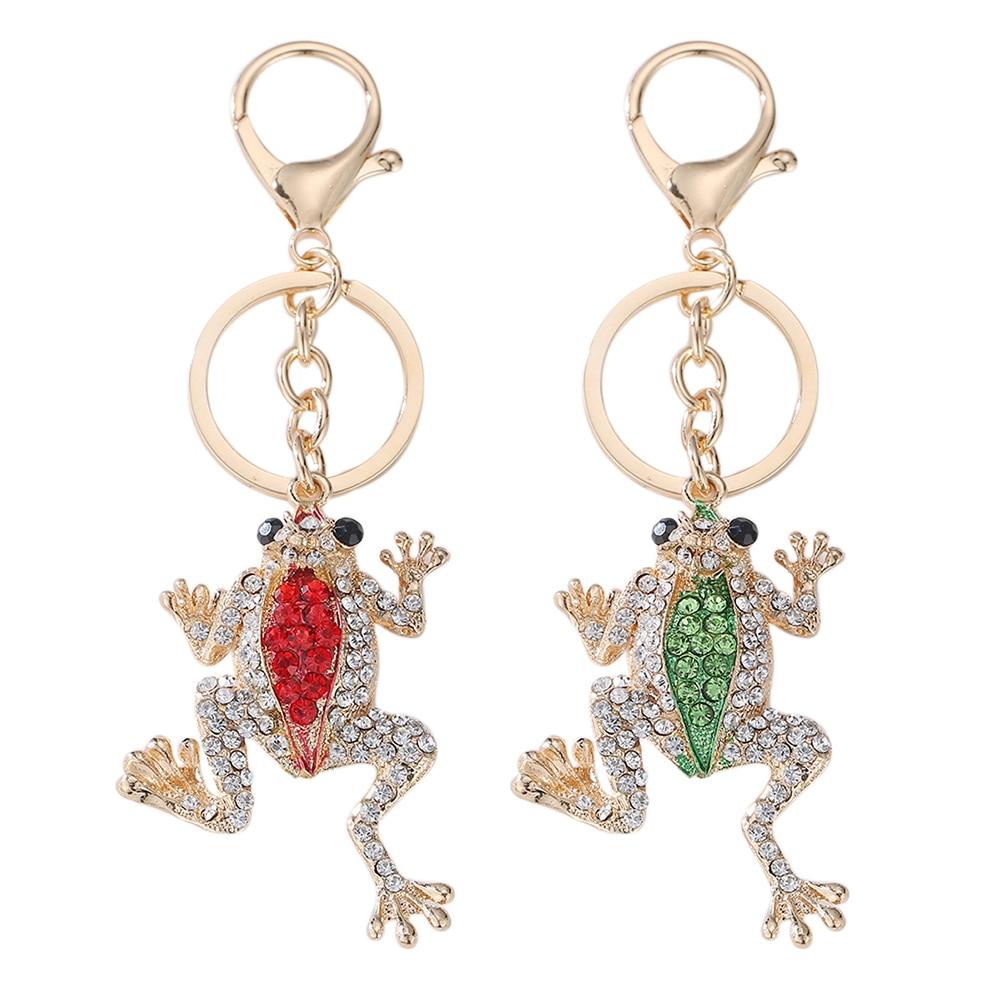 Design Keychain Keyring Shiny  Frog Charms Keychain Car Bag Hanger Luxury Unisex Keychain Jewelry New
