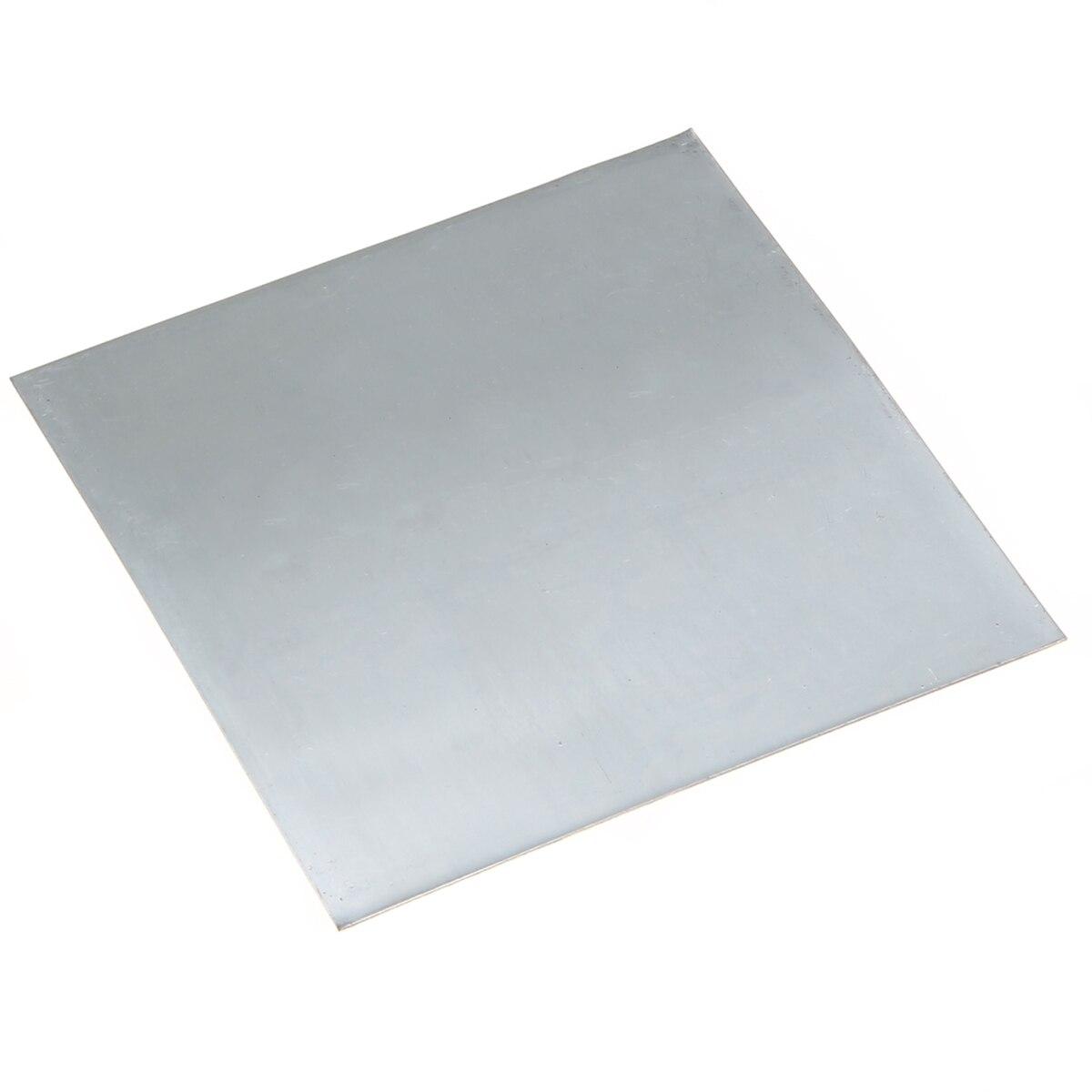 1 Uds Placa de Zinc 99.9% Zinc puro Zn chapa 100mm x 100mm x 0,2mm para accesorios de Laboratorio de Ciencia