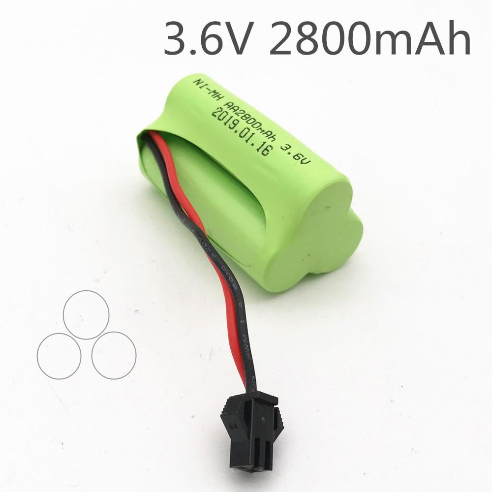 3.6v סוללה 2800mah Ni-mh סוללות 3.6v Nimh סוללה Pilas 3.6v Recargables סוללה עבור Rc רכב צעצוע כלים דגם AA סוללה