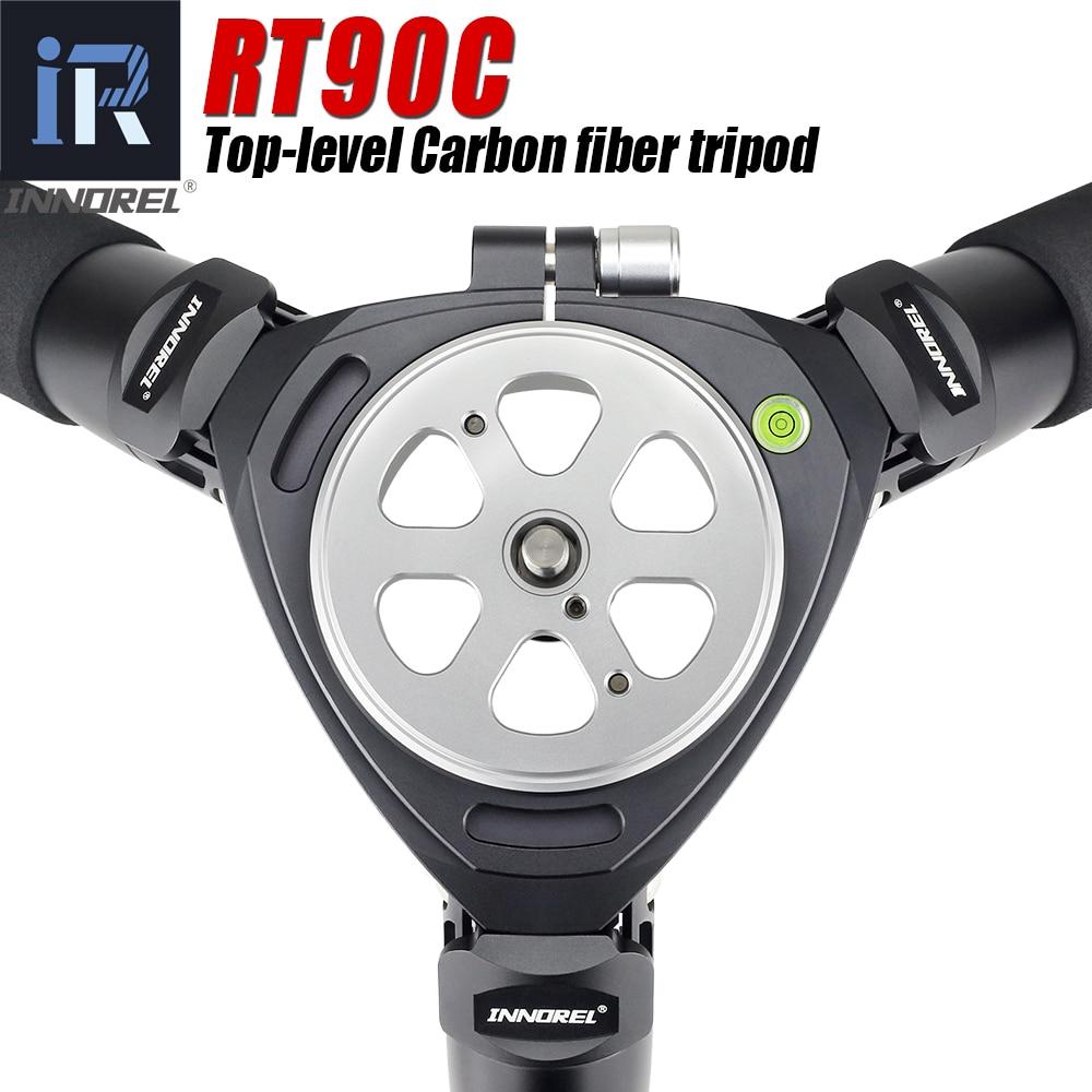 RT90C(LT404C) أعلى مستوى ألياف الكربون ترايبود المهنية مراقبة الطيور الثقيلة حامل كاميرا 40 مللي متر أنبوب 40 كجم حمولة 75 مللي متر محول