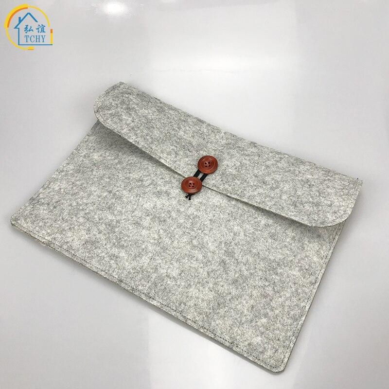 TCHY delgado de lana de fieltro documentos bolsa Universal funda para Portátil Bolsa funda maletín para Macbook Air 11 12 13 14 15 bolsa
