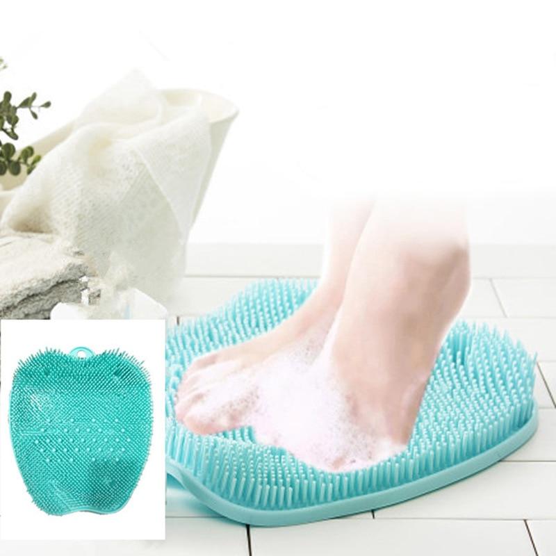 Gel de sílice, ducha, pies, zapatillas de masaje, zapatos para el baño, cepillo de piedra pómez, depurador de pie, Spa, ducha, pies, cepillo de pies, baño de masaje