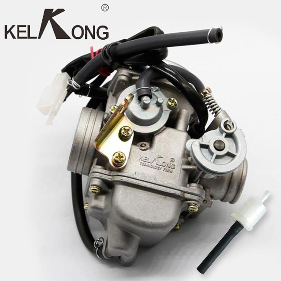 Kelkong novo gy6 125cc 150cc motocicleta carburador carb para baja scooter atv go kart scooter ciclomotor 125cc pd24j peças da motocicleta