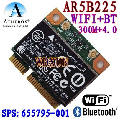 Cartão sem Fio Wifi + 4.0bt Atheros Wifi Metade Mini Pci-e Bluetooth 4.0 Exceder 6230 6235 300 m Ar5b225