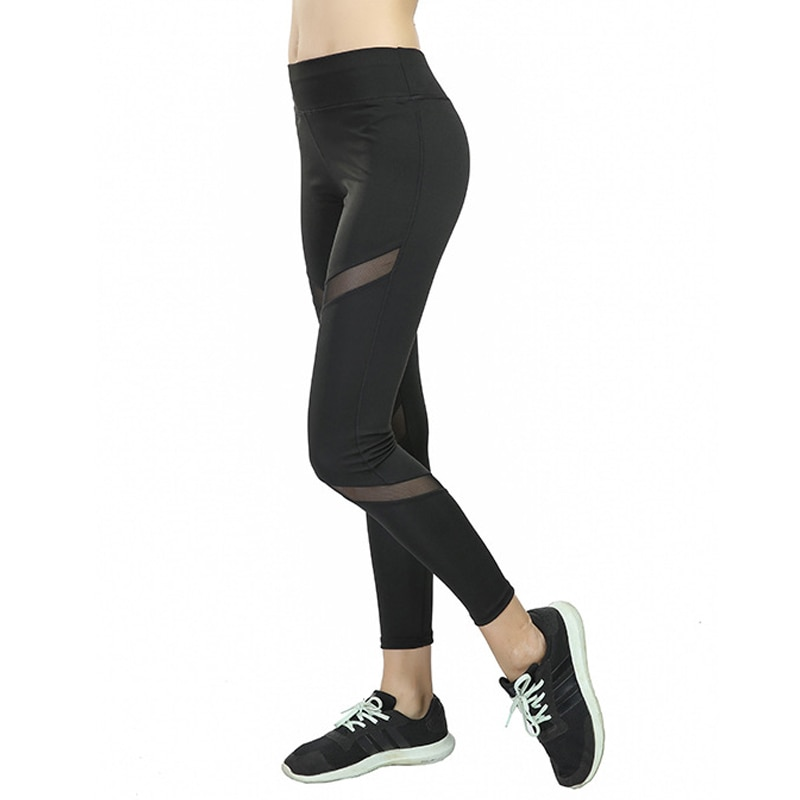NORMOV Sexy Frauen Leggings Streifen Dünne Mid Taille Solide Slim Fit Workout Leggings Fitness Elastische Kraft Schwarz Leggings