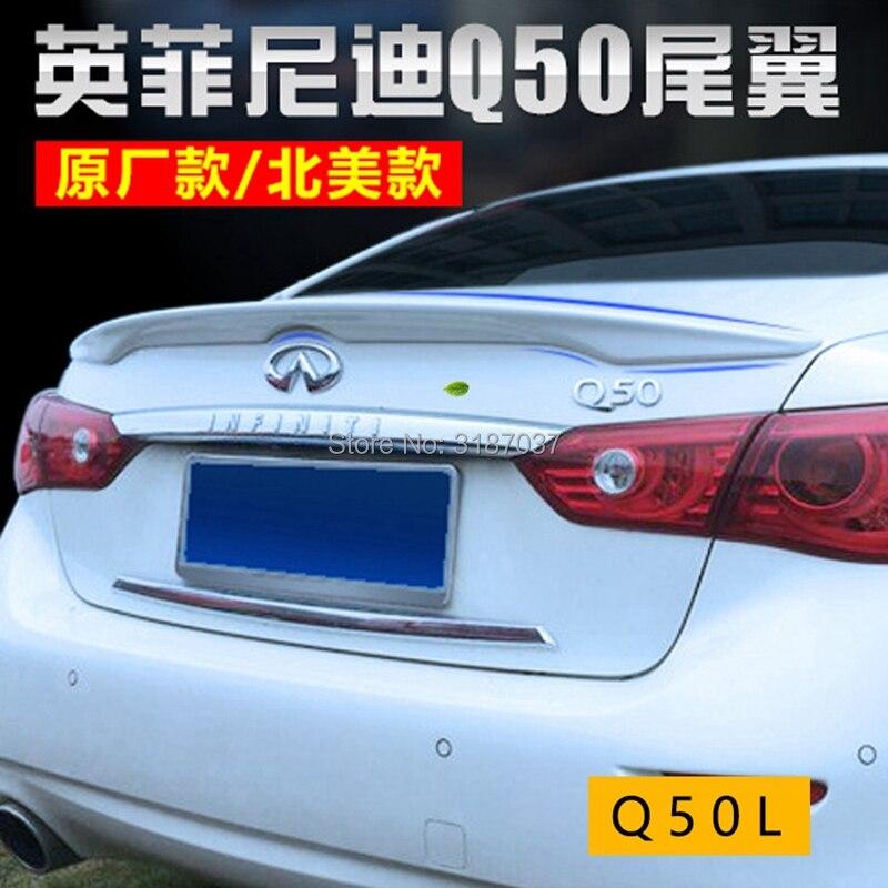 Para Nissan Infiniti Q50 Spoiler 2013 + ABS de plástico sin pintar ala trasera del alerón del techo maletero labio arranque cubierta estilo de coche