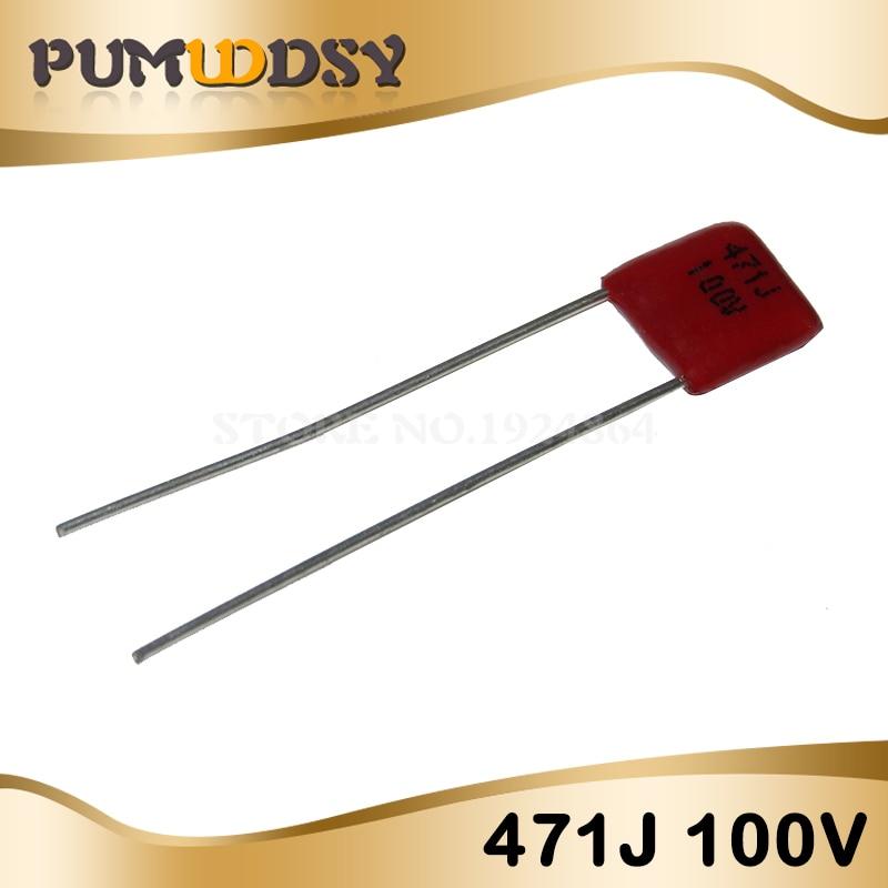 20PCS 100V471J 470PF Pitch 5MM 100V 471 CBB Polypropylene film capacitor