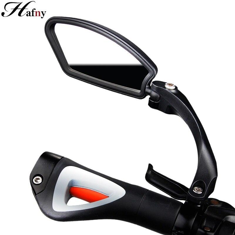 Espejo de lente de acero inoxidable para bicicleta Hafny, espejo retrovisor trasero de seguridad lateral para manillar MTB, espejos retrovisores flexibles para bicicleta de carretera