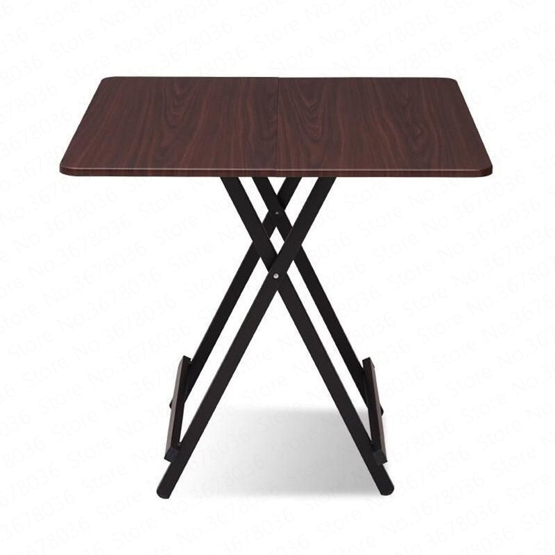 Mesa plegable de Madera maciza para el hogar, mesa de comedor Simple portátil de cuatro cuadrados para exteriores, mesa de cocina moderna, Mesas Plegables de Madera