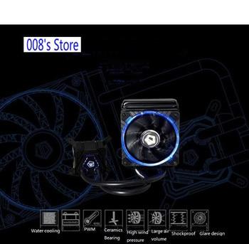 New Radiator Cooler Freezer Water Liquid Cooling System Fan For CPU Intel LGA 2011 115X 1366 Dynamic Bearing 120mm lue LED Light
