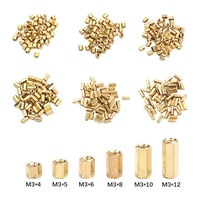 50Pcs M3*4/5/6/8/10/12 Female female Hex head Brass Spacing Screws Threaded Pillar PCB Computer PC Motherboard StandOff Spacer