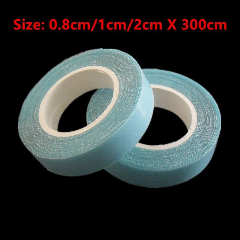 1 rouleau de bande adhésive Double face 300CM   Bande adhésive imperméable et de haute qualité, pour trame cutanée, extensions de cheveux, pièce de cheveux