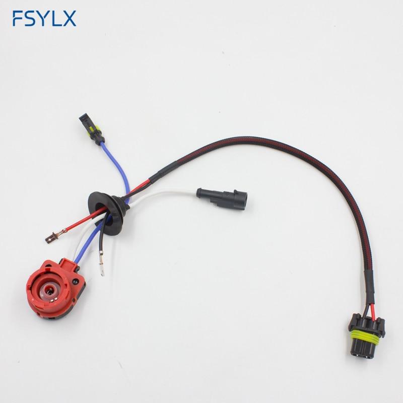 Автомобильный адаптер FSYLX D2 D2C D2S D2R, розетка усилителя, кабель питания, HID балластная лампа, ксеноновая проволока, жгут проводов D4 D2