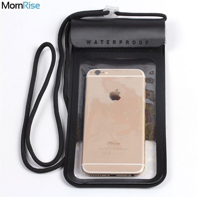 """Nuevo máximo 6,3 """"carcasa de buceo para teléfono móvil funda impermeable bolsas funda de teléfono a prueba de agua para iPhone X Samsung Xiaomi Huawei"""