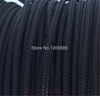 10m 3mm 16awg 18awg cable protection sleeve net wire protection black nylon braided cable sleeve pci e psu power cable sleeve