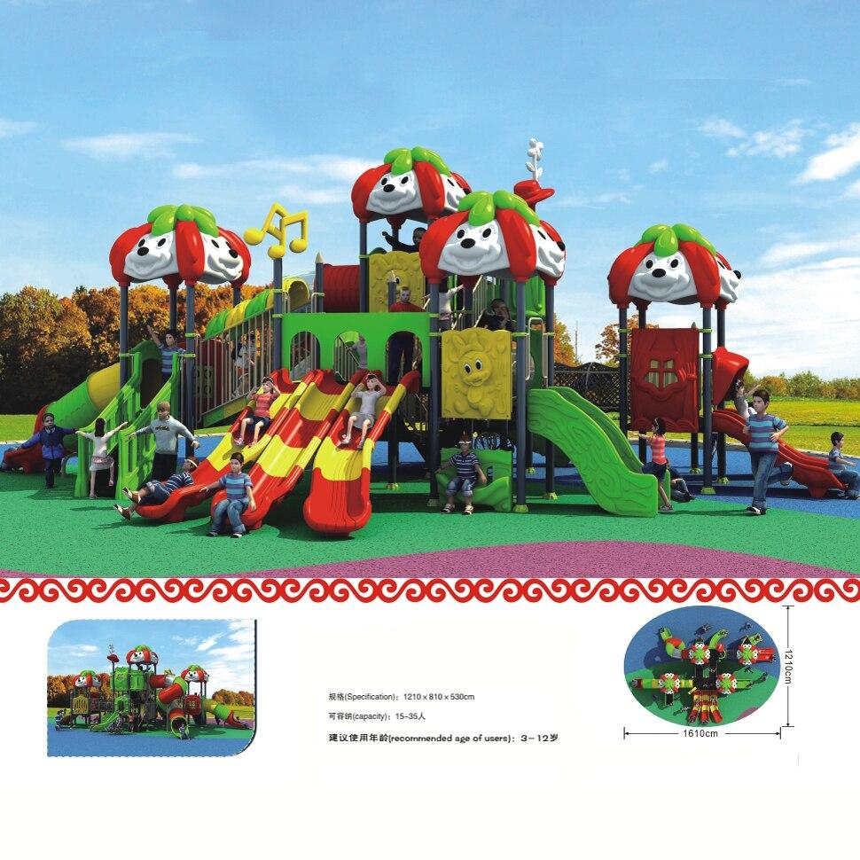 Grande playground ao ar livre para crianças/parque de diversões parque infantil com CE/TUV