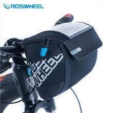 ROSWHEEL 3L sacs de vélo avant sport vélo vélo avant panier Pannier cadre Tube guidon sac 400D PVC carte Bolsa Bicicleta