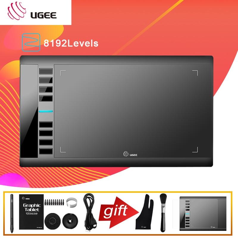 جهاز لوحي رسومات مقاس 10 × 6 بوصات M708V2 ، سطح رسم رقمي ، لوحة رسم ، مستوى 8192 ، قلم بدون بطارية