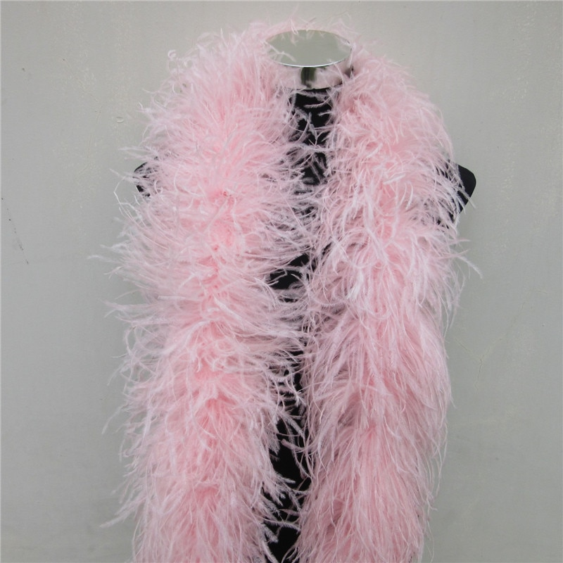 Yy-tesco-jupe de boa en plumes   Costumes/garniture pour fête, châle, plume artisanale, 2 mètres roses pelucheux, décorations de mariage