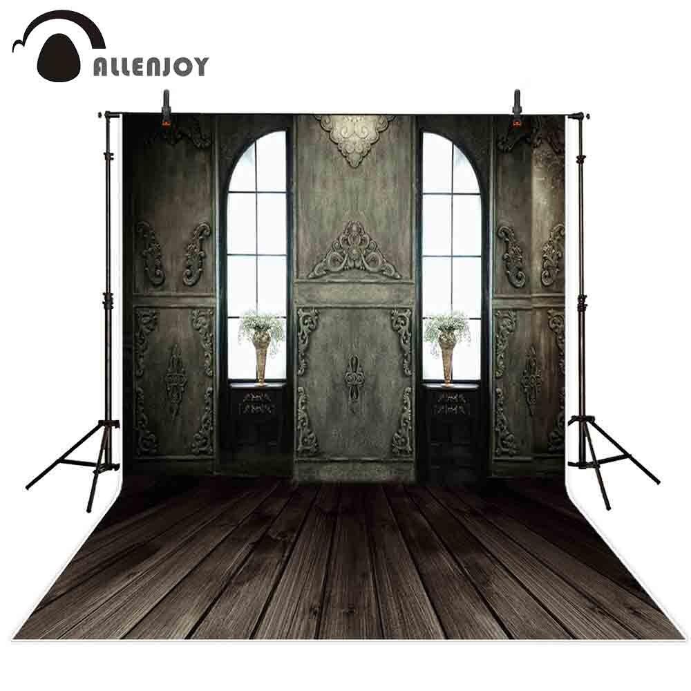 Allenjoy telón de fondo Foto fondo vintage arco ventana madera interior fotografía photocall photophone vinilo fond shoots prop