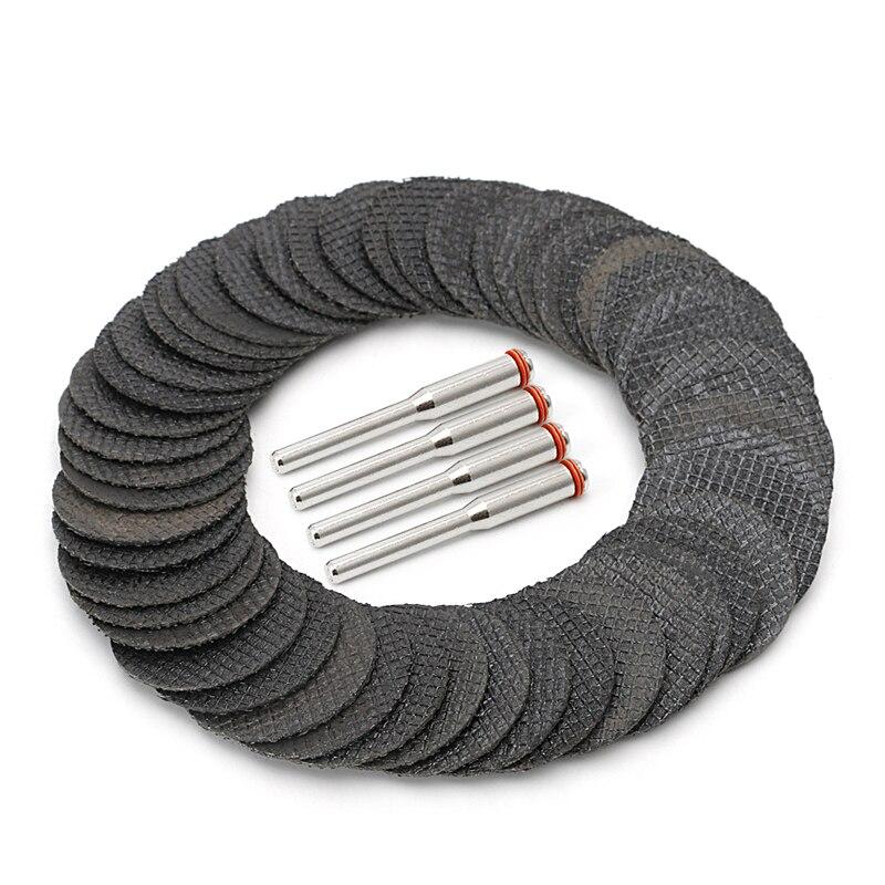 Herramienta de fibra de vidrio BENGU 50 Uds disco de corte abrasivo Rueda de corte con 4 mandriles rotativos