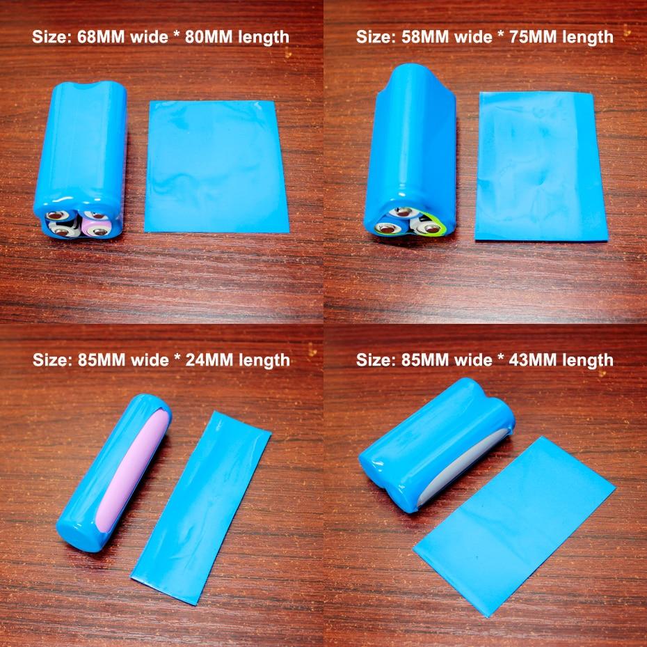 Купить с кэшбэком 100pcs/lot 18650 lithium battery skin PVC heat shrinkable film battery shrinkage package insulating sleeve