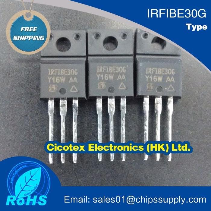10 pçs/lote IRFIBE30G componentes Eletrônicos IRFIBE30GPBF N-CH MOSFET 800 V 2.1A TO220FP