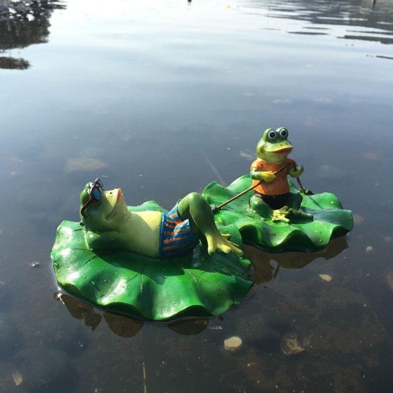 Смоляные ручные лягушки, садовый сад, рыбный пруд, плавающая лягушка, качели, домашнее украшение, рыбный бант, статуи, украшения для дома, сва...
