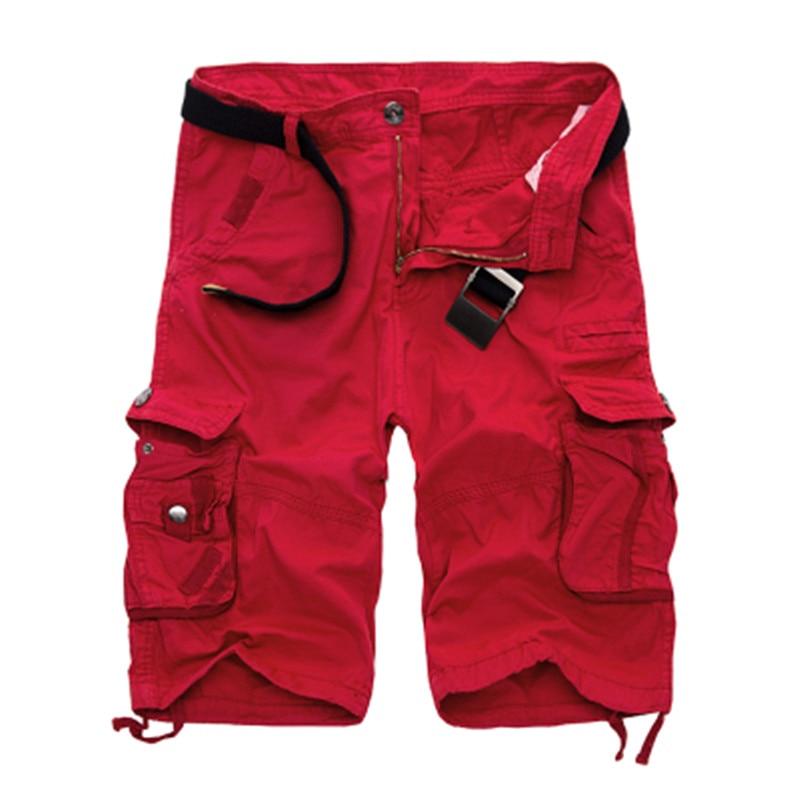 2019 nuevos pantalones cortos de camuflaje del ejército de algodón para Hombre Pantalones cortos informales de trabajo holgados talla grande sin cinturón para hombre carga militar pantalones cortos