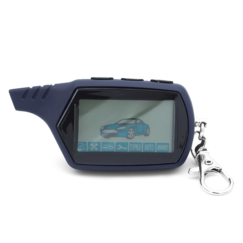 Starline A91 Two way LCD Remote Control Key Fob Chain Keychain Russian Vehicle Security Two Way Car