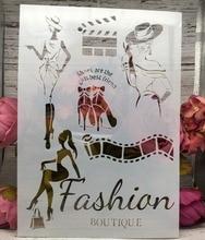 A4 модный Дамский DIY трафареты для раскрашивания стен, раскраска для скрапбукинга, тиснение альбом, декоративная бумажная карта, шаблон