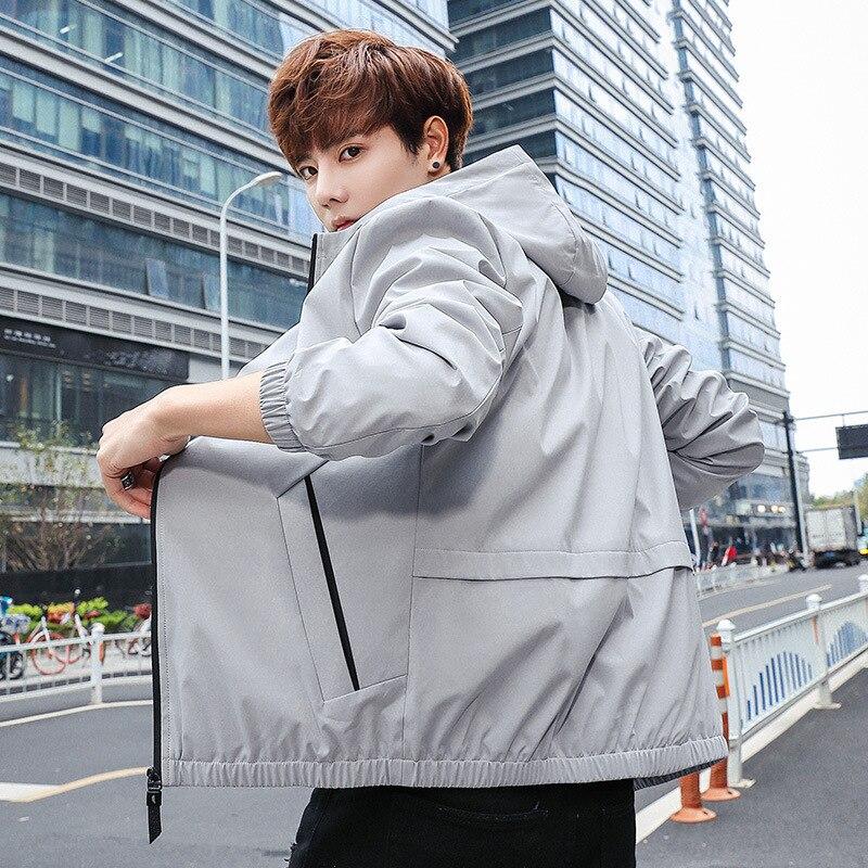 Весенняя модная новинка Мужская универсальная куртка мужская повседневная куртка с капюшоном