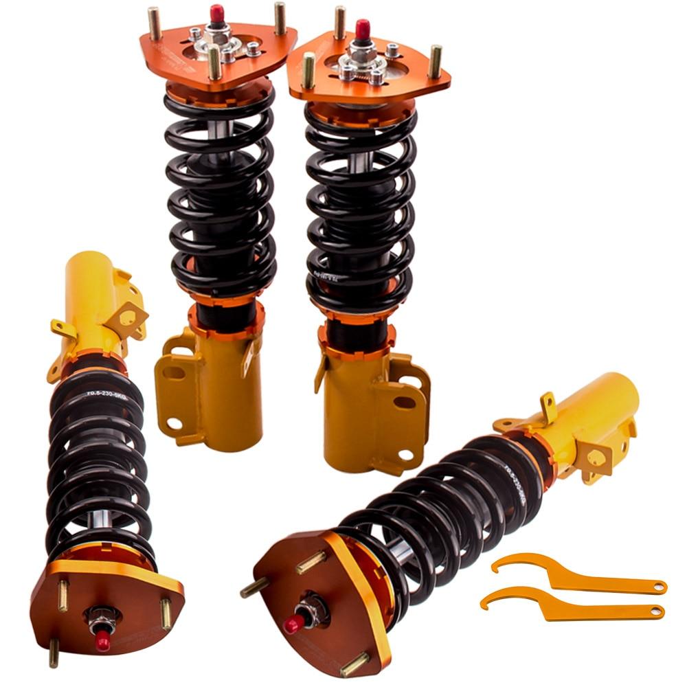 24 ways Adjustable Damper Coilover for Toyota Corolla AE90 E90 E100 E110 1988-1999 Coil Spring Free shipping
