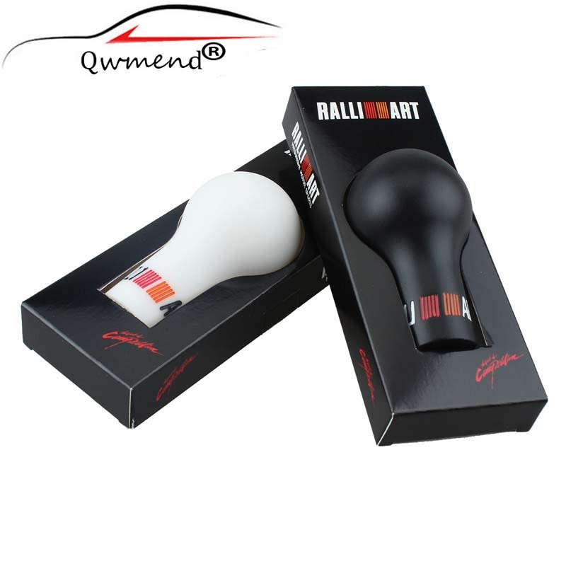 RALLIART универсальная 5/6 скоростная автоматическая ручка переключения передач черный/белый автомобиль ручной передачи (MT) для Mitsubishi
