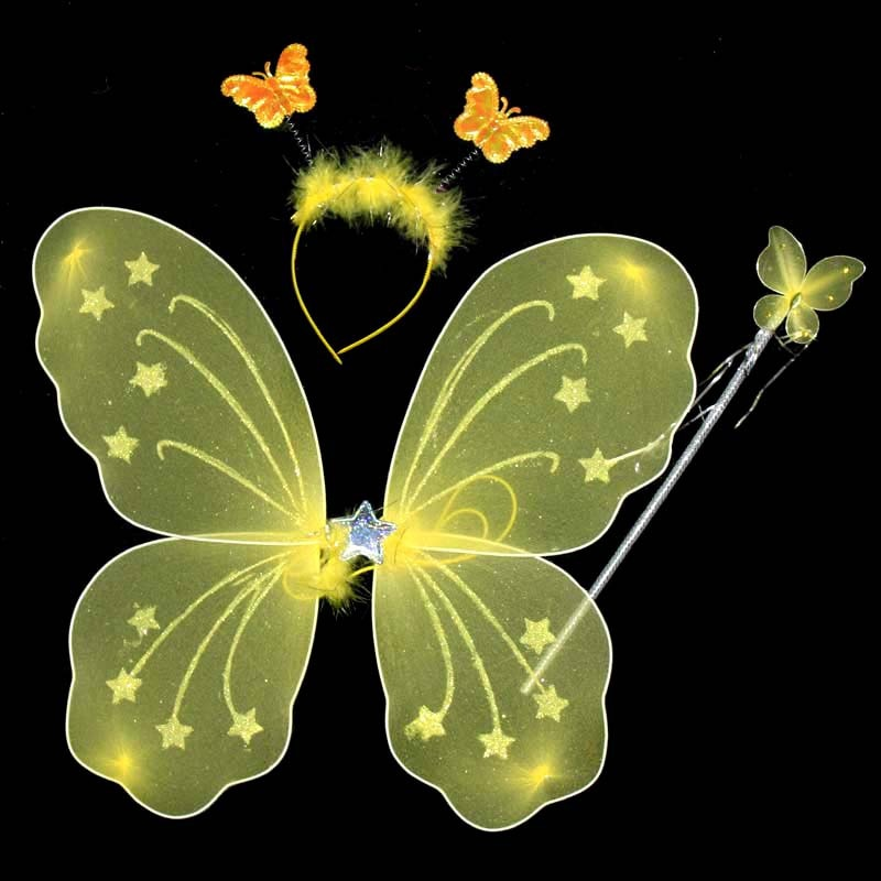 Traje alas de Ángel a la moda, tela de mariposa, vestido de...