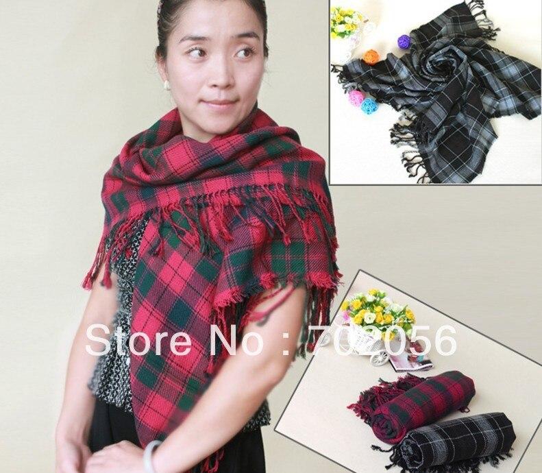 square plaid checker shawl wrap poncho stole 110*110m mixed color 12pcs/lot #3063