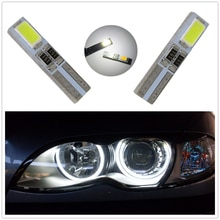 WLJH 20 stücke Led T5 W3W 5730 SMD 37 74 Angel Eyes LED für Scheinwerfer Keil Instrumententafel Tacho Cluster Lampe Auto Licht