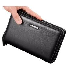 Affaires portefeuille hommes monnaie poche fermeture éclair sac à main longue hommes pochette portefeuilles portefeuille grande capacité porte-carte passeport portefeuille 2019