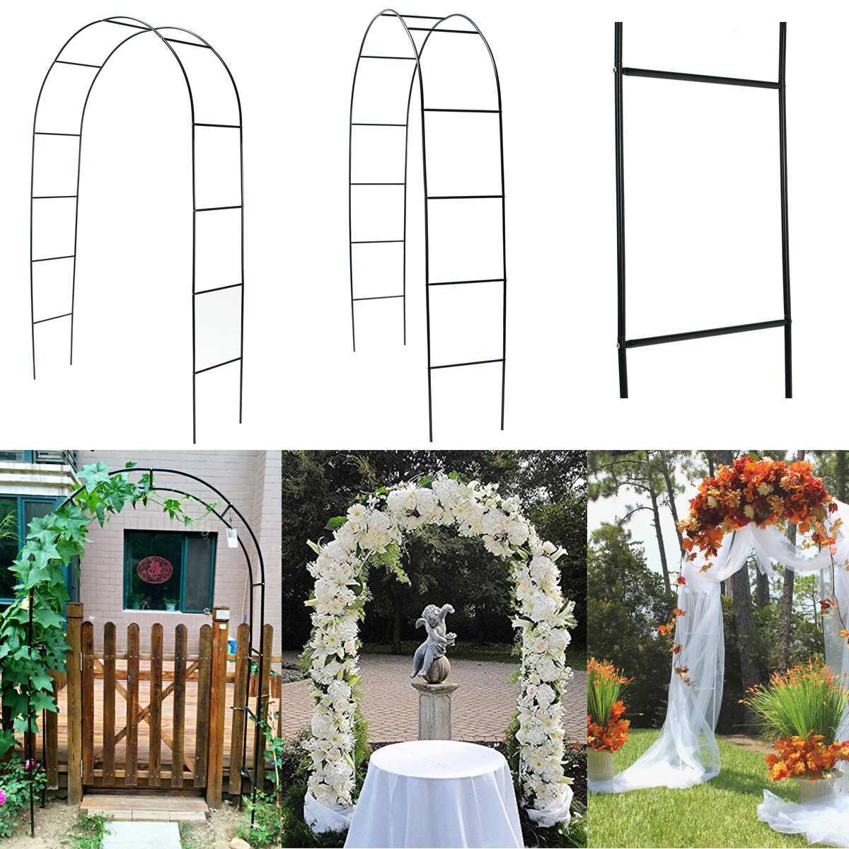 القوس الحديدي المزخرف ، العريشة ، إطار الزهور ، للزواج ، أعياد الميلاد ، حفلات الزفاف ، DIY
