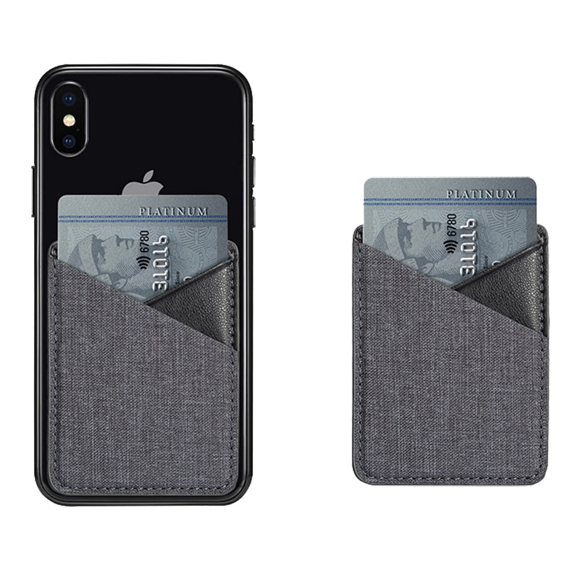 Lona tarjeta pegatina trasera para iPhone XS Max XR de soporte con ranuras para tarjetas monedero para Samsung S10 S9 Plus P20 P30 Pro bolsillo