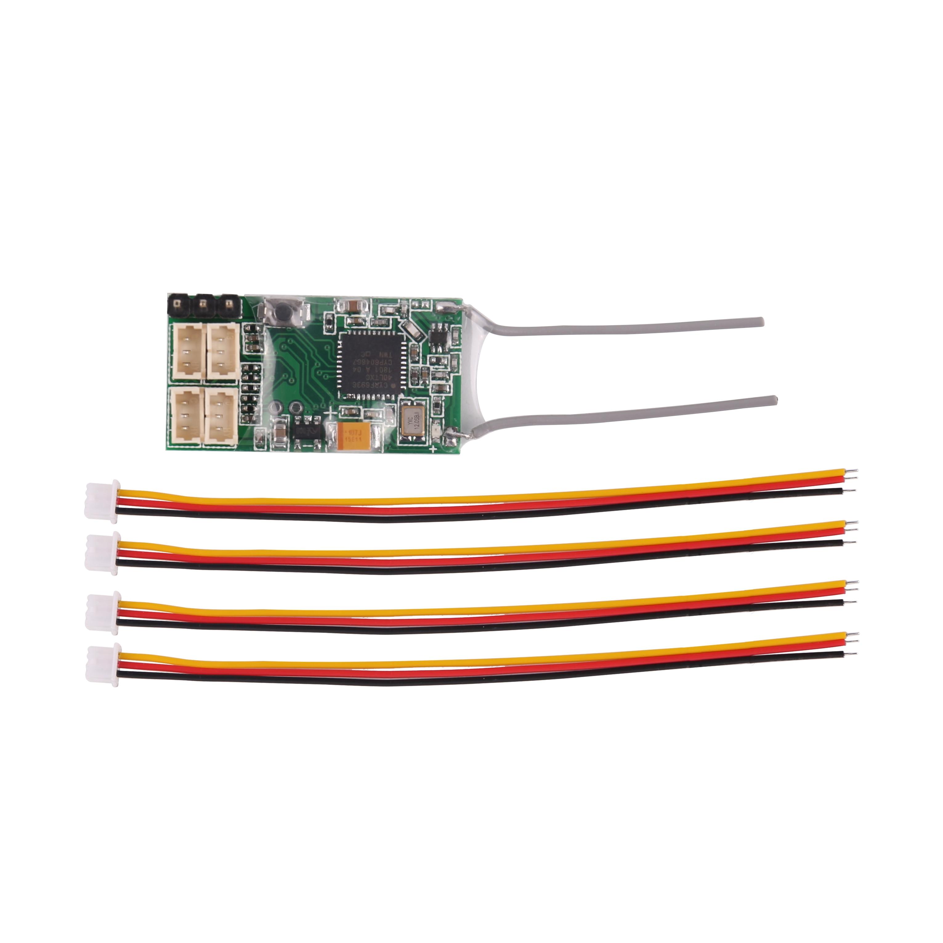 Receptor remoto Dsmx DSM2 para transmisor Spektrum DX6I DX18 DX8 DX9 dev10, receptor REDCON CM410X-4Ch PPM JST 2,4G