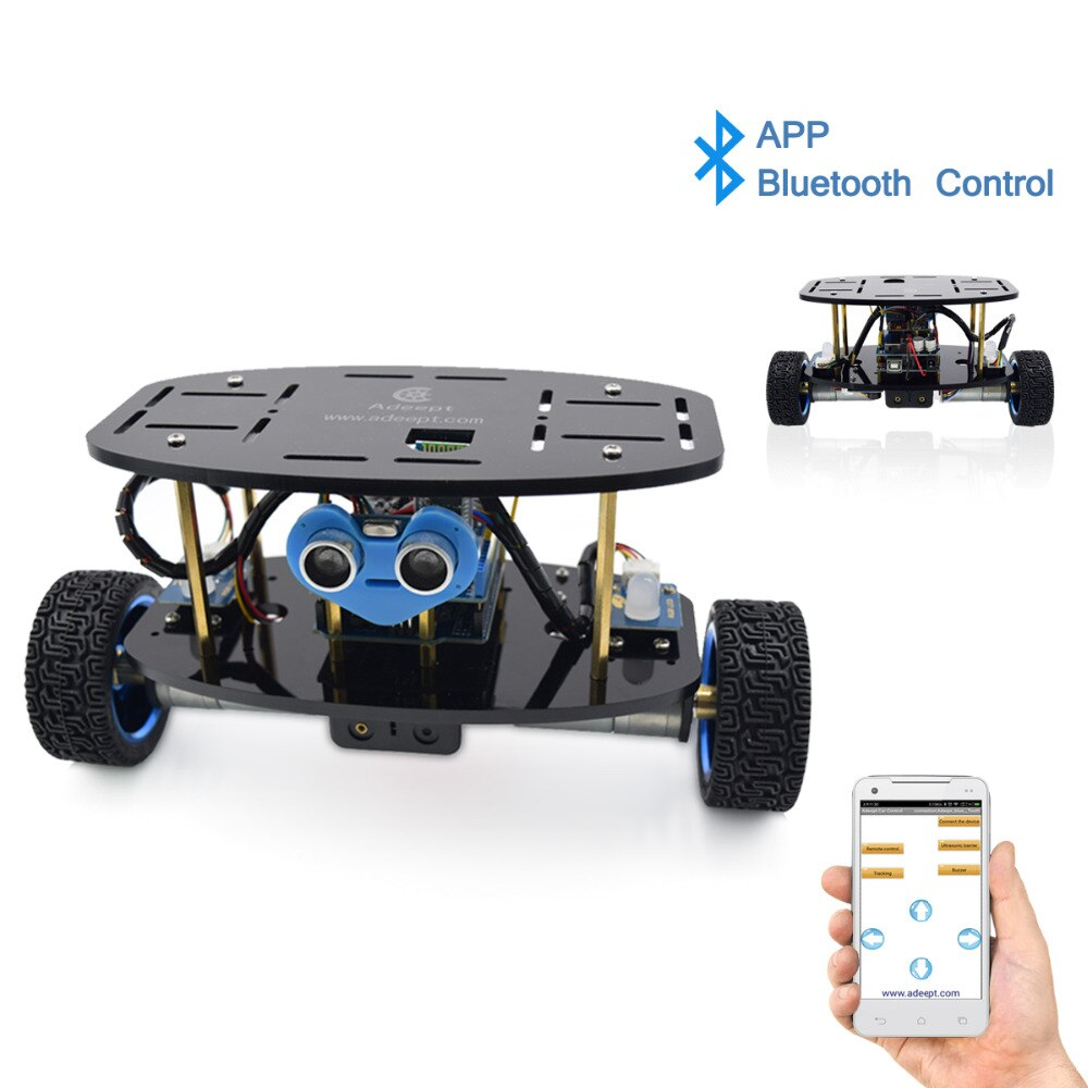 Adeept 2-عجلة الذاتي موازنة تستقيم سيارة روبوت كيت لاردوينو UNO R3 مع PDF تعليمات كتاب الروبوت APP التحكم عن بعد