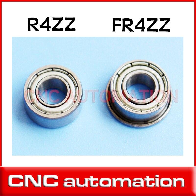 "2 piezas R4ZZ cojinete blindado pulgadas serie 6,35x15.875x4,98mm rodamiento de bolas miniatura FR4ZZ cojinete de brida 1/4 * 5/8*0.196"""