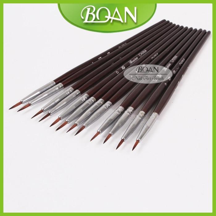 BQAN 100 PCs/Lot 0# Synthetic Hair Professional Nail Art Painting Drawing Brushes Nail Art Drawing Pen Tool Manicure Art Tool