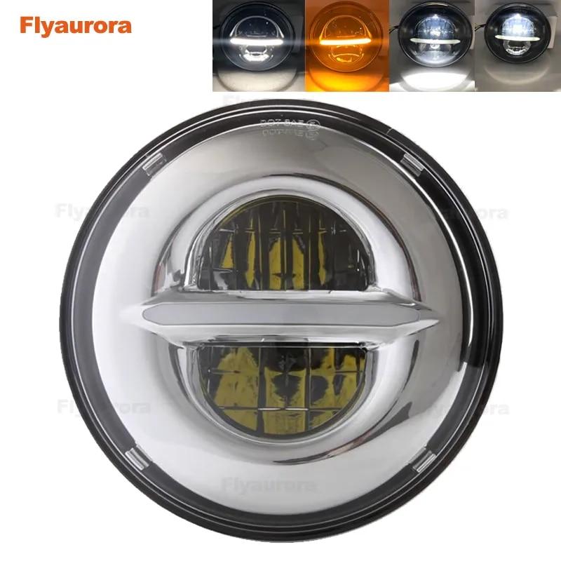Flyaurora – phare de moto pour Suzuki Cafe Racer CG125 GN125, 50w, 7 pouces