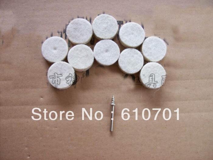 "10pcs 1"" 25mm Felt Wool Buffing Polishing Wheels Pads With 3.2mm Dia Mandrel Shank"